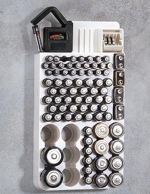 battery storage organizer