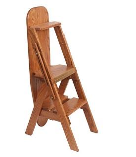 Oak ironing board w/hidden stool