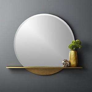 CB2 mirror w/shelf