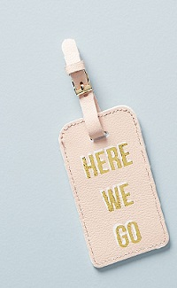 Here we go luggage tag