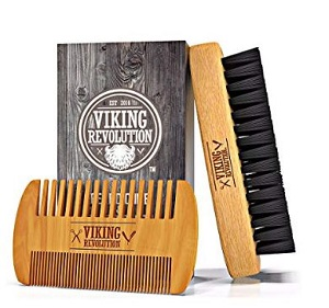beard comb & brush set