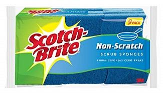 scotch brite non-scratch sponge