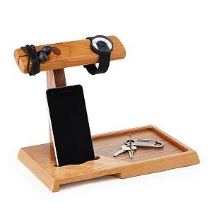 wooden valet/amplifying speaker