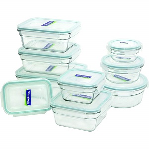 glasslock 18-piece glass containers