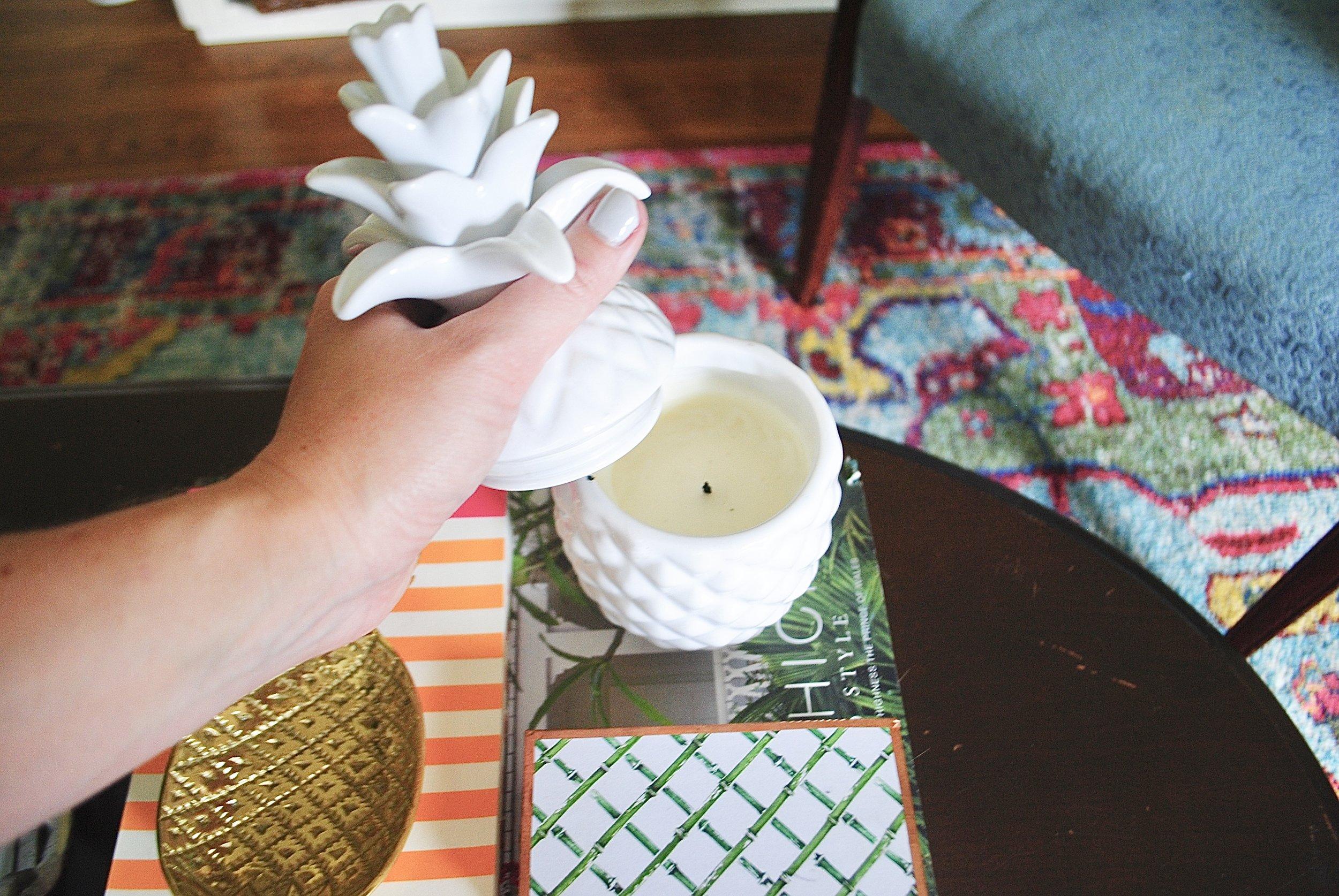 Pineapple Jar Candle