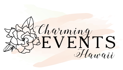 Charming Events Hawaii  Brianna Kaui, Owner  charmingeventshawaii@gmail.com  808-394-7911