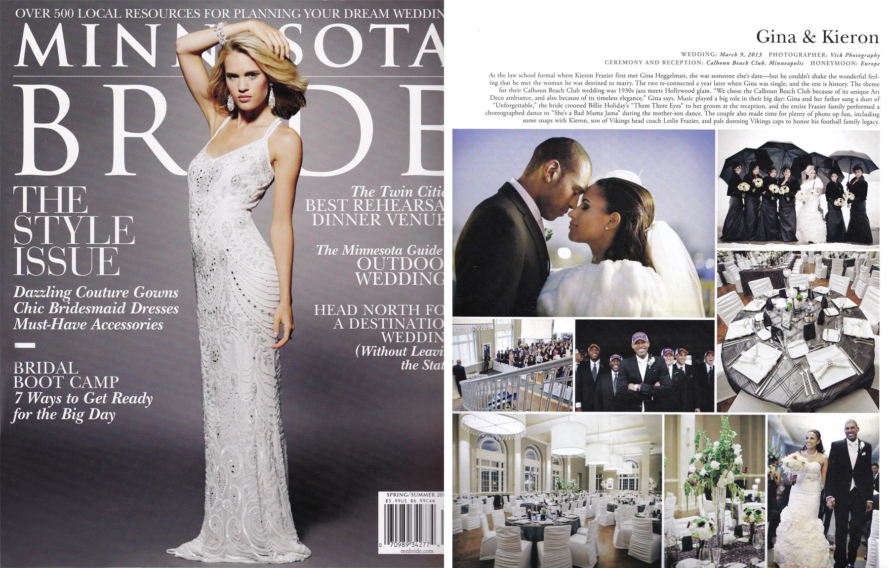 2014 MN BRIDE MAGAZINE - SPRING / SUMMER