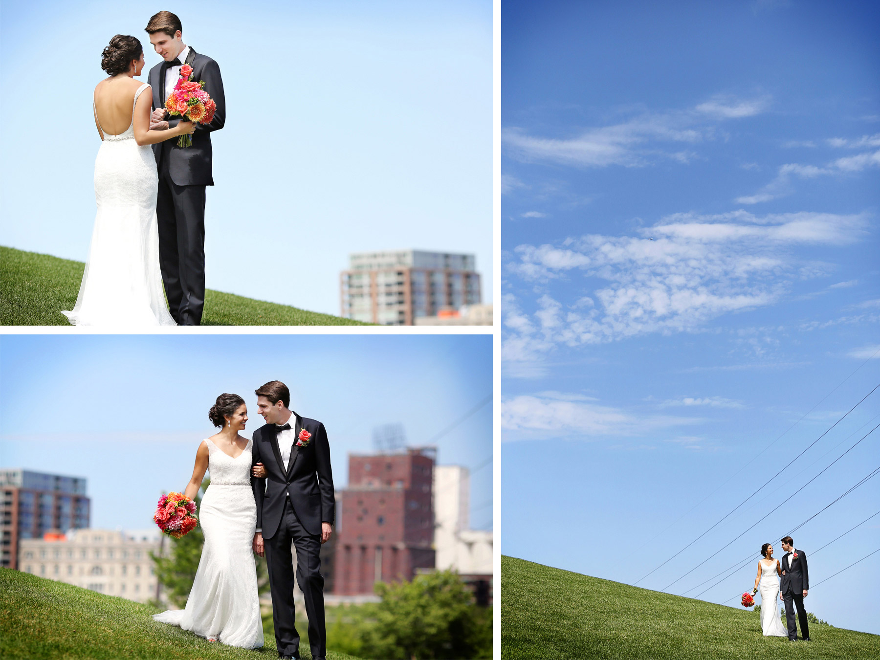 06-Minneapolis-Minnesota-Wedding-Photography-by-Vick-Photography-First-Look-Blue-Sky-Lalu-&-John.jpg