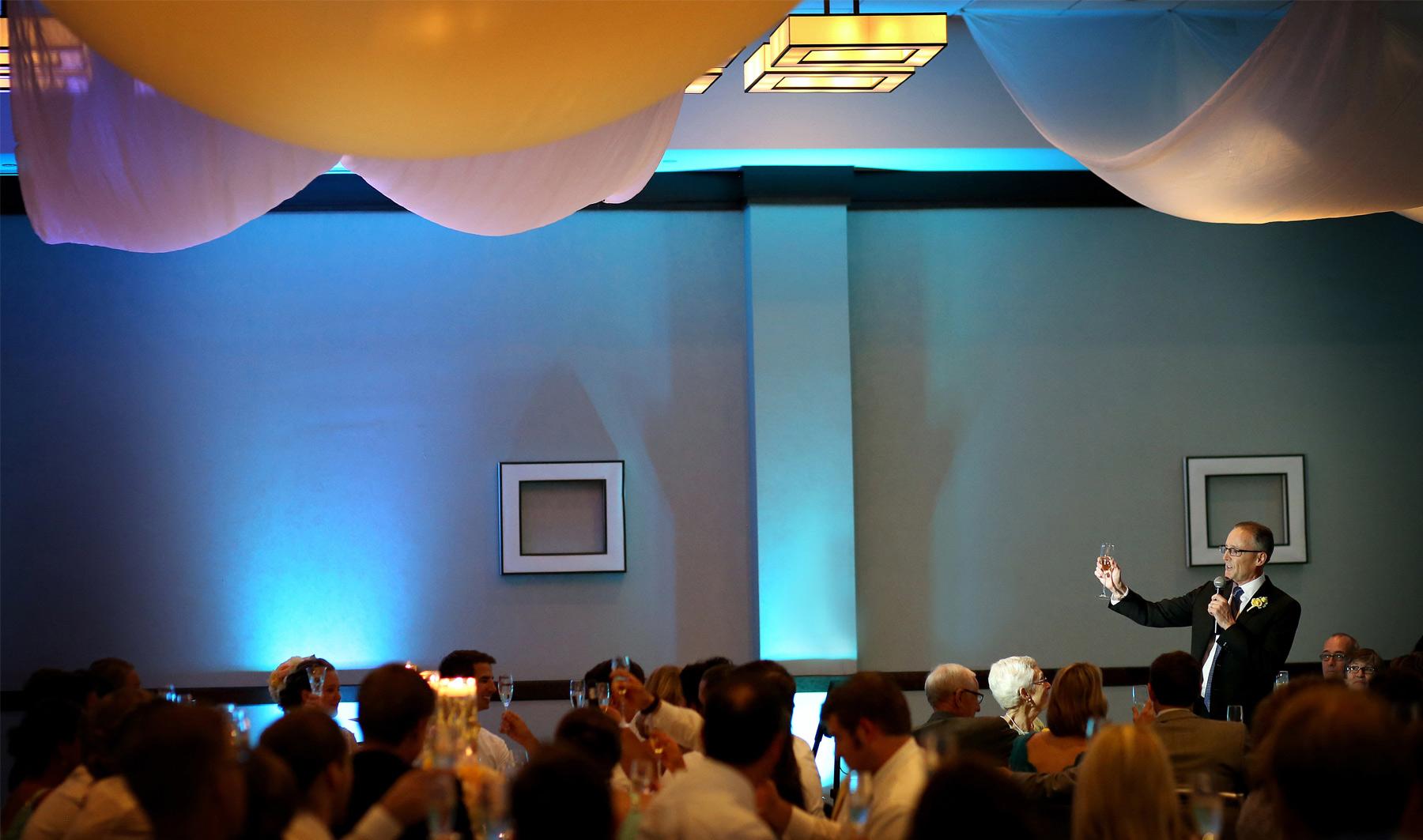 15-Minneapolis-Minnesota-Wedding-Photography-by-Vick-Photography-Edina-Westin-Hotel-Reception-Toasting-Grace-&-Nick.jpg