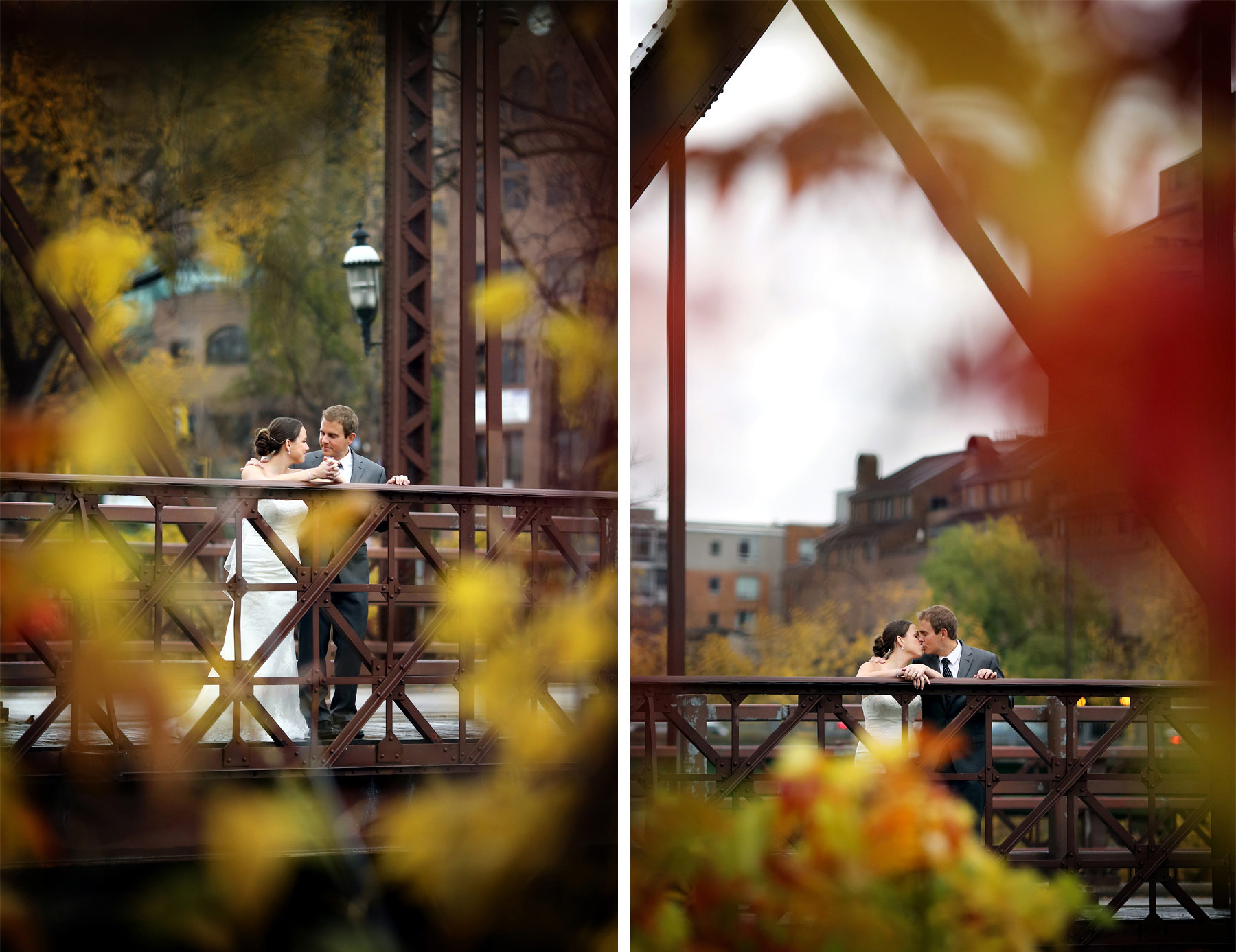 04-Minneapolis-Minnesota-Wedding-Photography-Downtown-Rain-Nicollet-Island-Pavilion-Fall-Colors-Fall-Leaves-Autumn-First-Look-Kalley-and-Ben.jpg