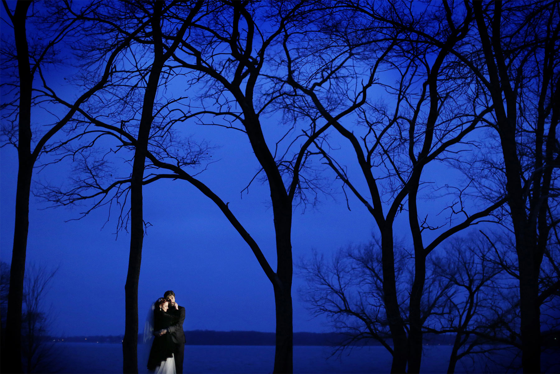 16-Minneapolis-Minnesota-Wedding-Photography-by-Vick-Photography--Chanhassen-Night-Photography-Winter-Dark-Trees-Ashley-and-Aaron.jpg