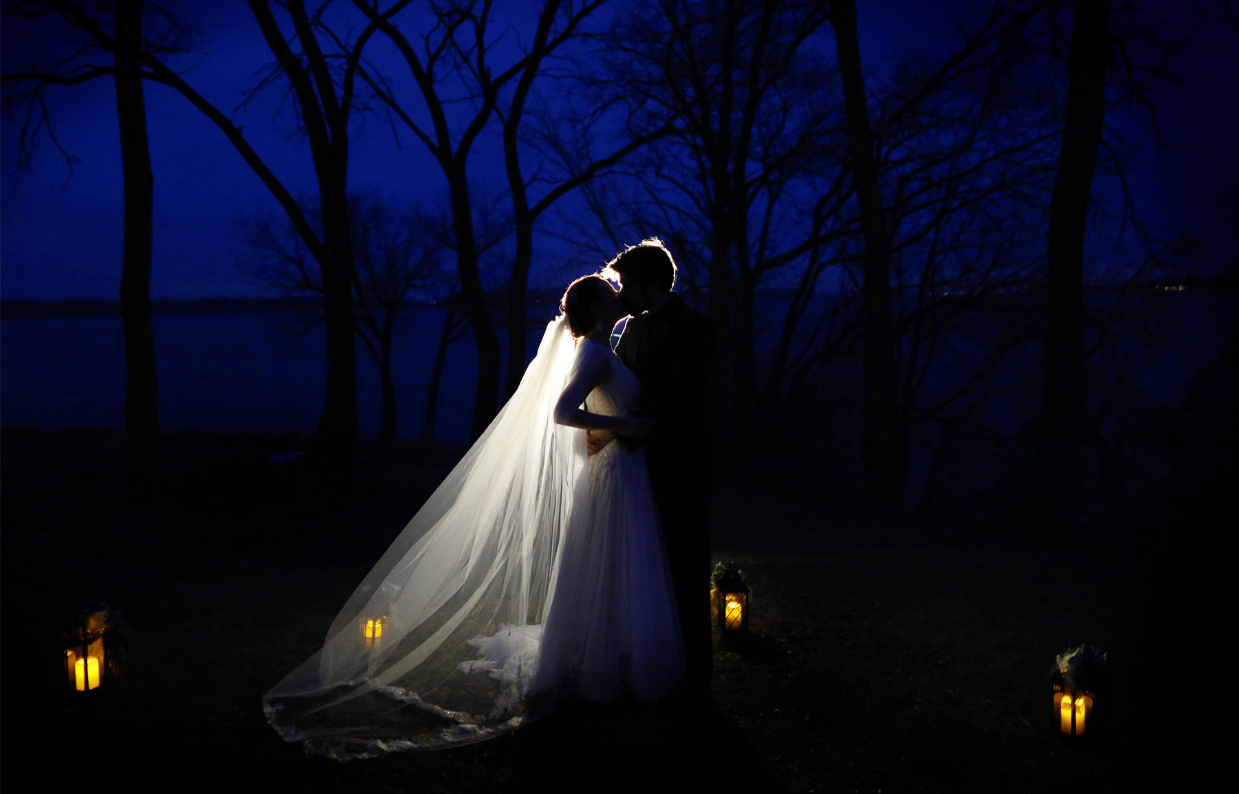 18-Minneapolis-Minnesota-Wedding-Photography-by-Vick-Photography--Chanhassen-Night-Photography-Winter-Lanterns-Dark-Trees-Ashley-and-Aaron.jpg