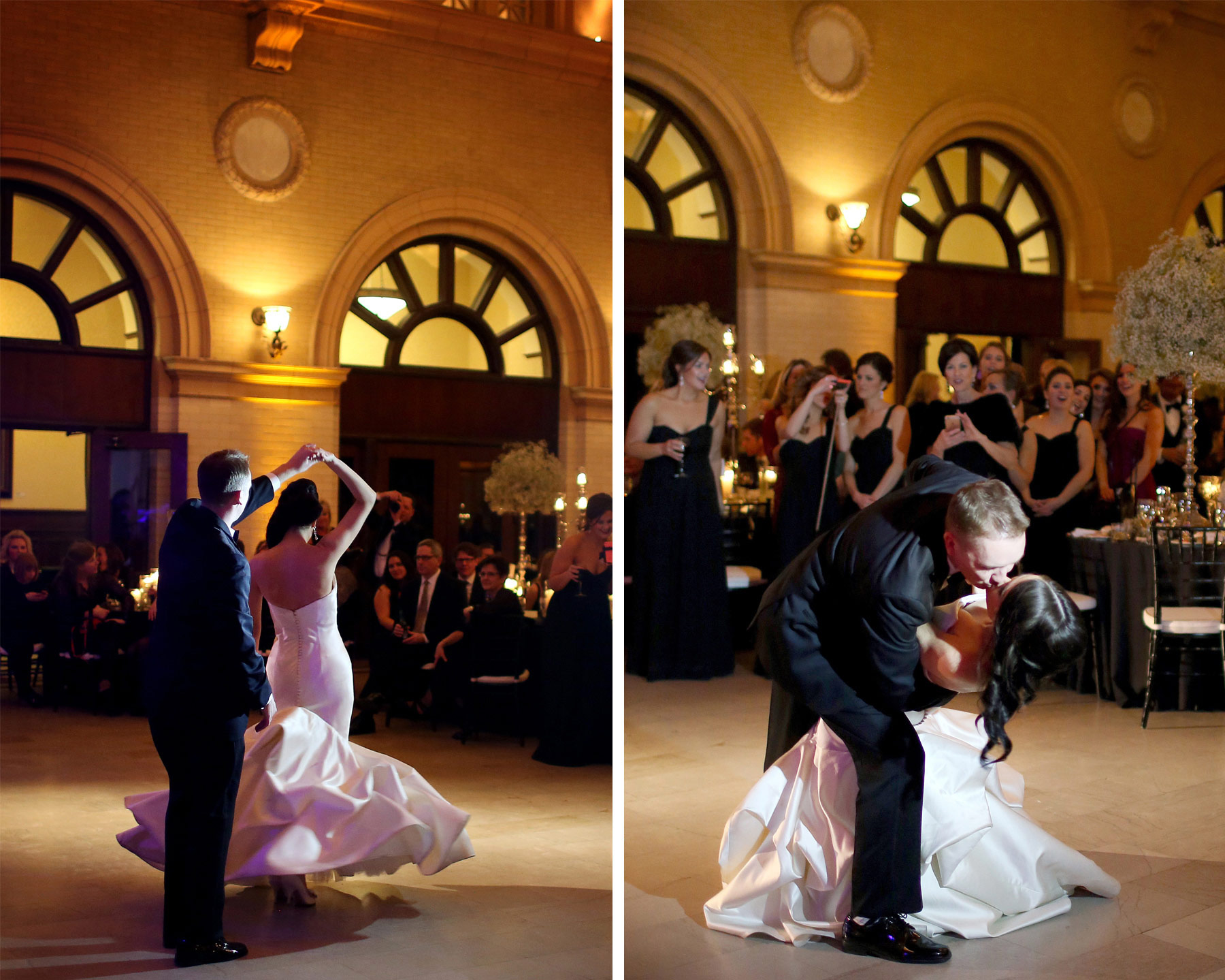 17-Minneapolis-Minnesota-Wedding-Photography-by-Vick-Photography-Downtown-The-Depot-Historic-Venue-Reception-First-Dance-Kimberly-and-Robert.jpg