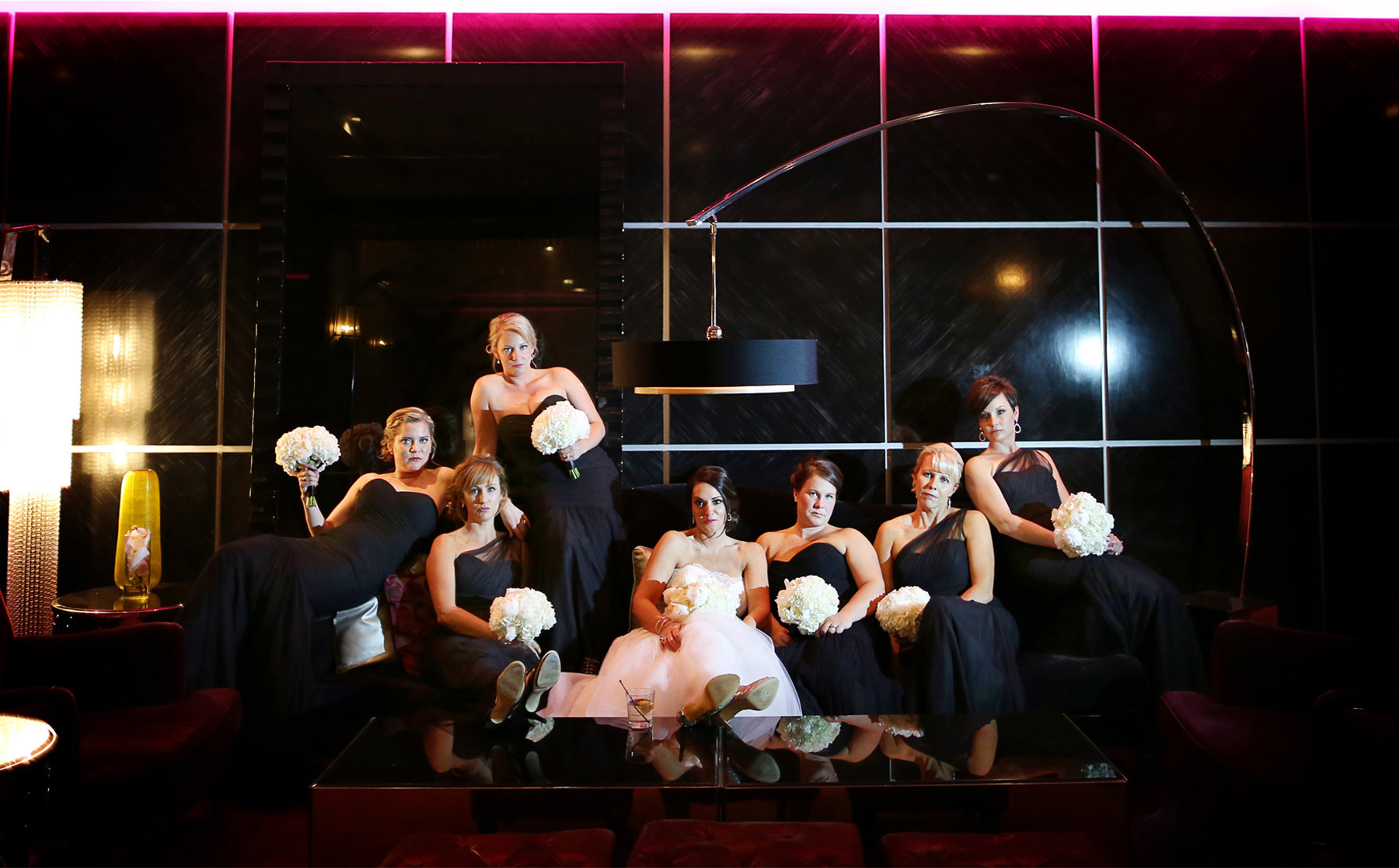 07-Minneapolis-Minnesota-Wedding-Photography-by-Vick-Photography-Downtown-Hotel-Lounge-Bridesmaids-Megan-and-Andrew.jpg