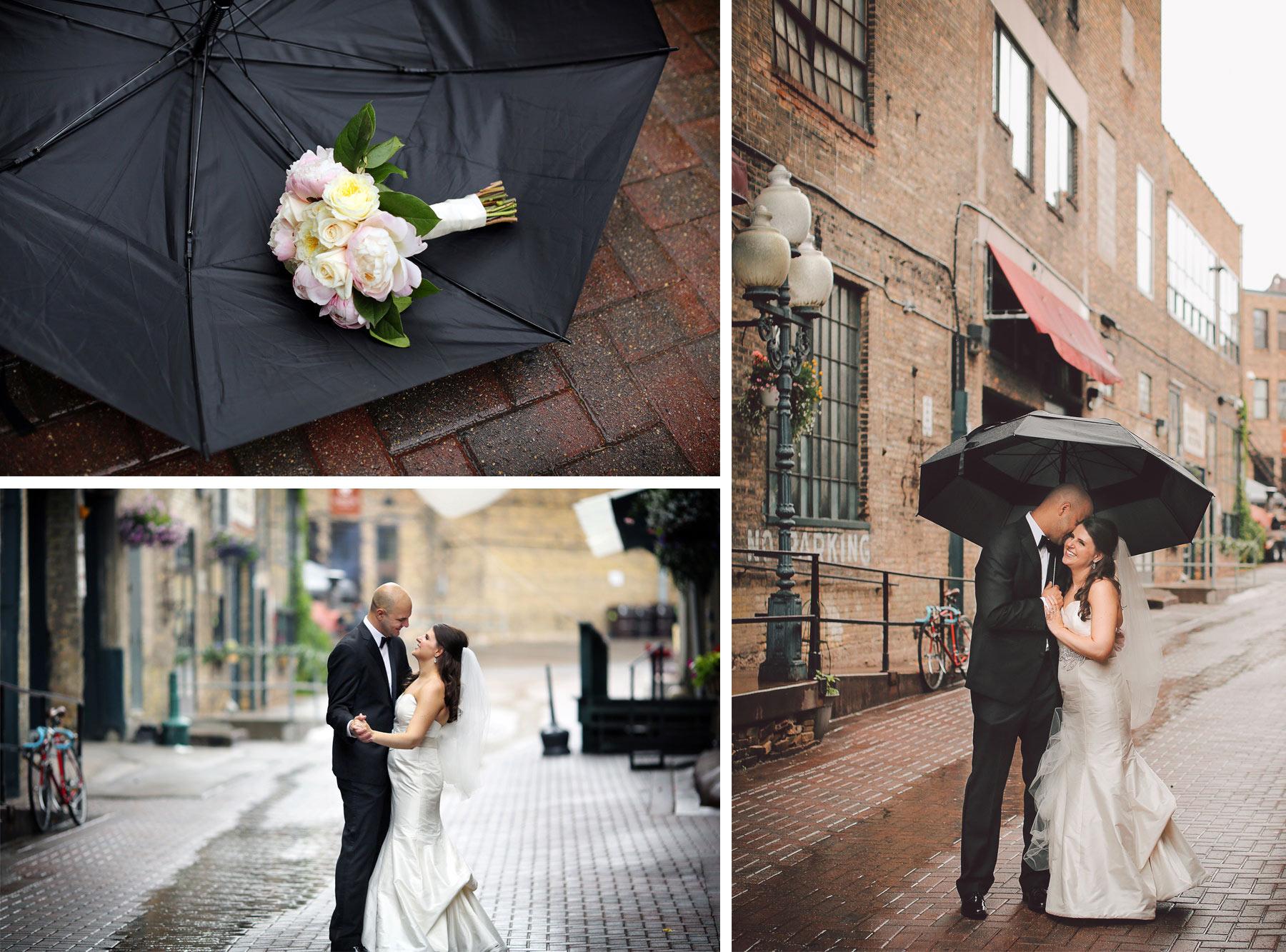 11-Minneapolis-Minnesota-Wedding-Photography-by-Vick-Photography-Rain-Umbrella-Downtown-Industrial-Brick-Nikki-and-Matt.jpg
