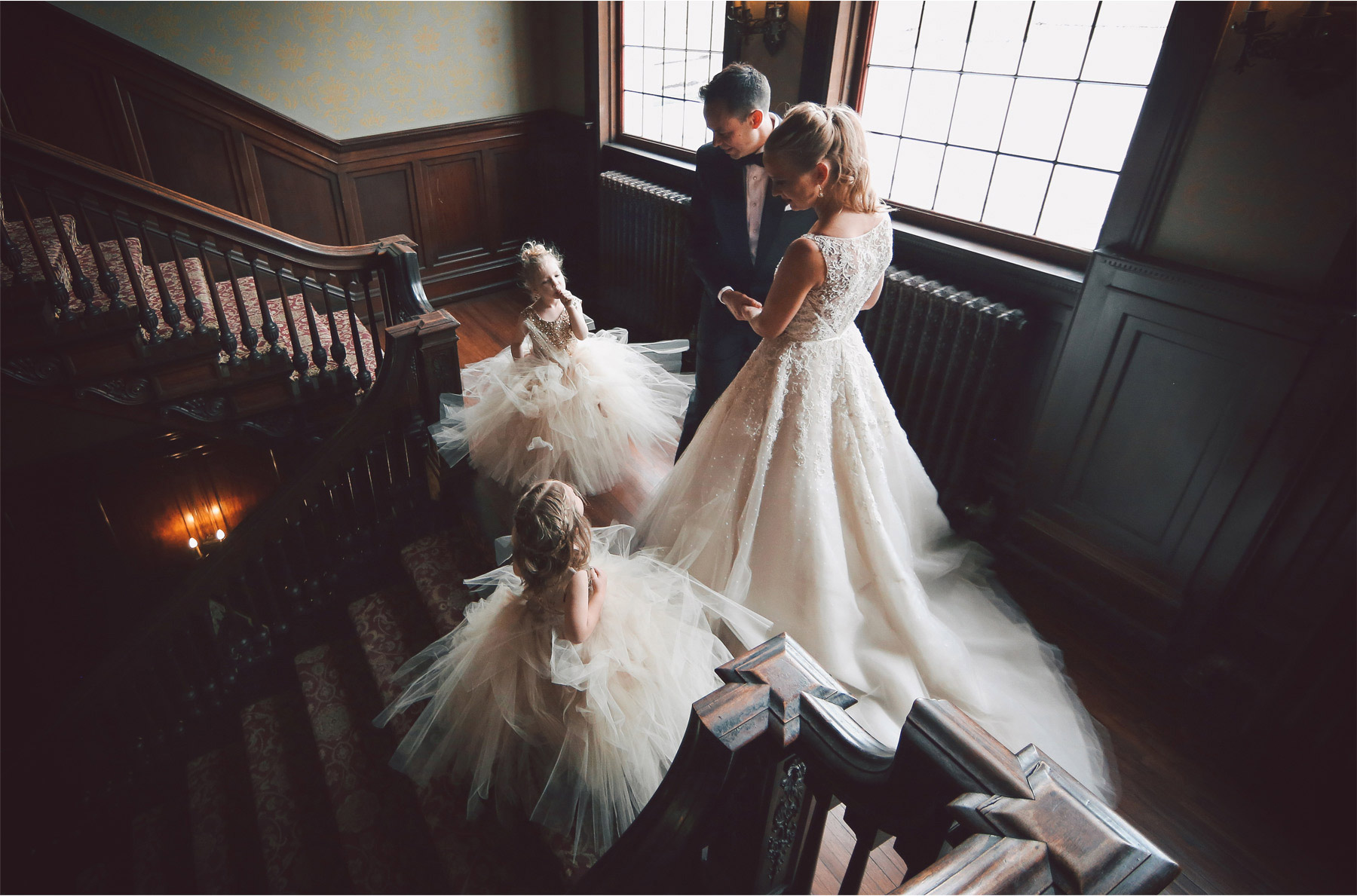 05-Minneapolis-Wedding-Photography-by-Vick-Semple-Mansion-Stairs-Flower-Girls-Abby-and-Jason.jpg