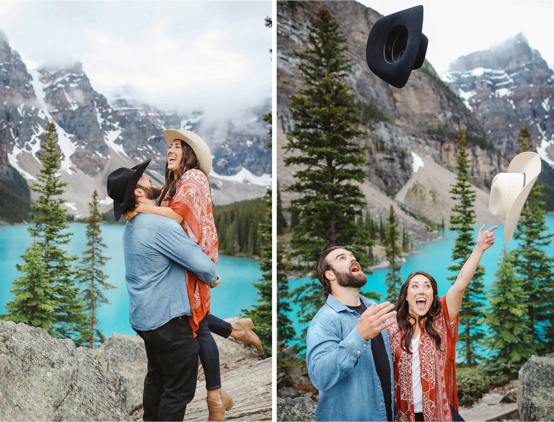 09-Banff-Canada-Engagement-Photography-by-Vick-Photography-Lake-Louise-Mountains-Cowboy-Hat-Lizz-and-Brady.jpg