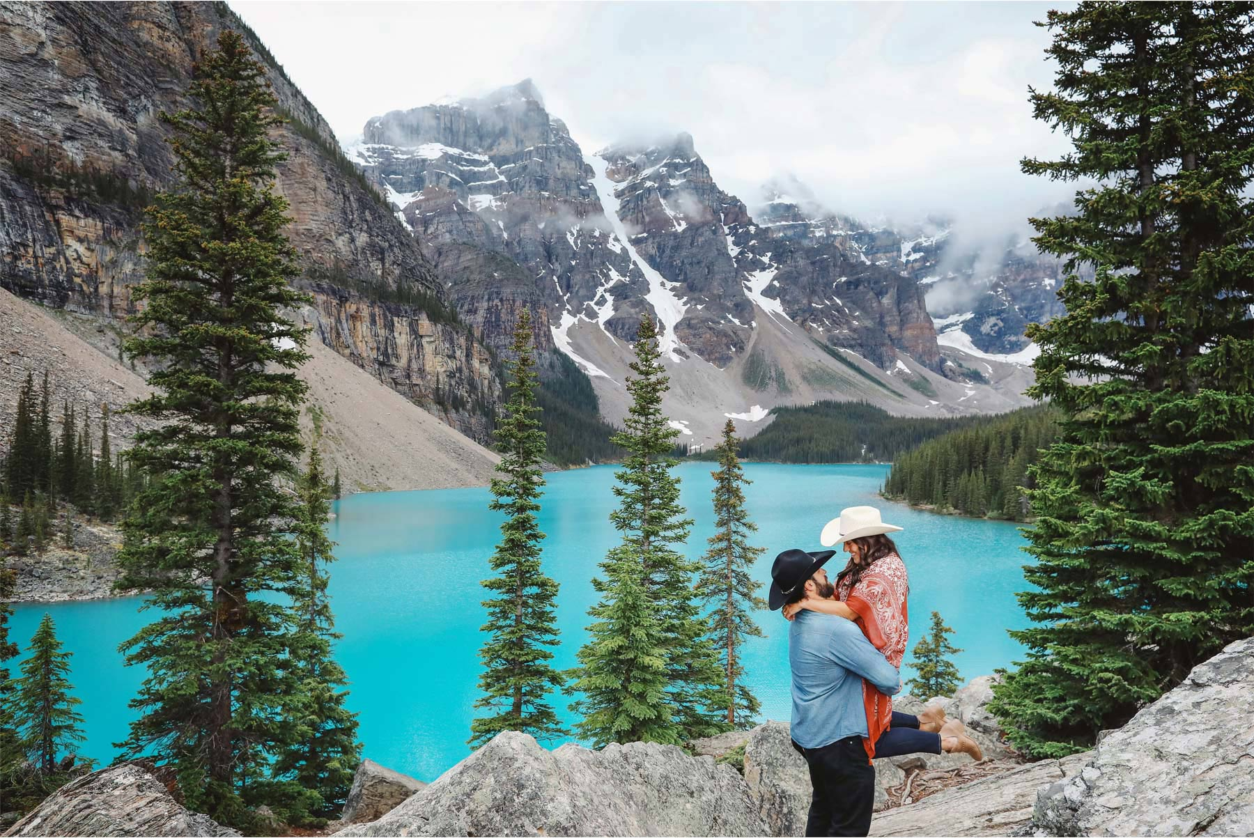 10-Banff-Canada-Engagement-Photography-by-Vick-Photography-Lake-Louise-Mountains-Cowboy-Hat-Lizz-and-Brady.jpg