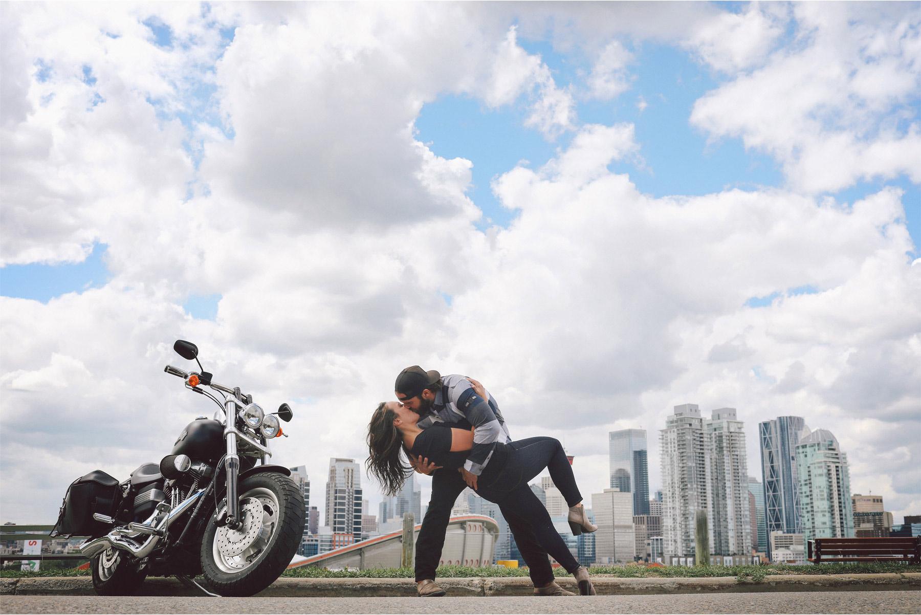 10-Calgary-Canada-Engagement-Photography-by-Vick-Photography-Bikers-Harley-Davidson-Skyline-Lizz-and-Brady.jpg