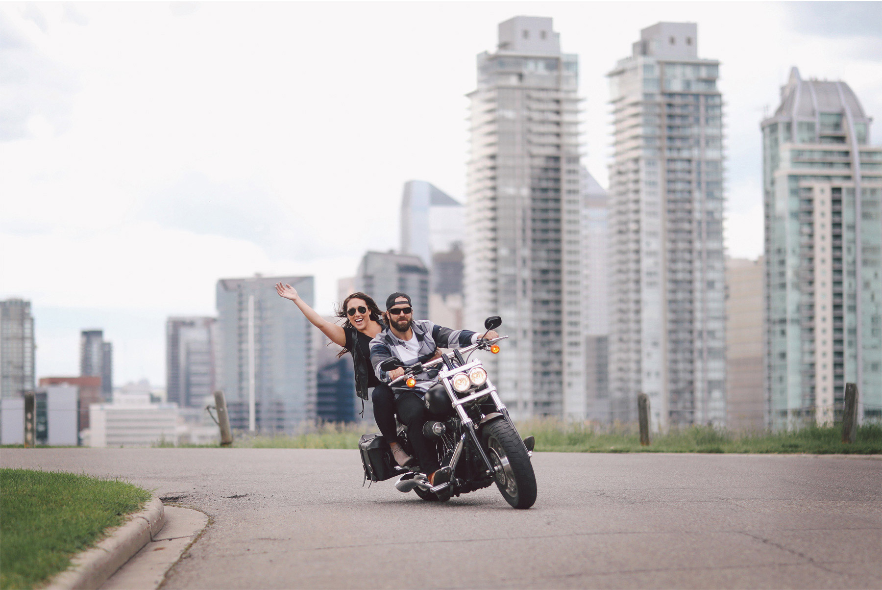 11-Calgary-Canada-Engagement-Photography-by-Vick-Photography-Bikers-Harley-Davidson-Skyline-Lizz-and-Brady.jpg