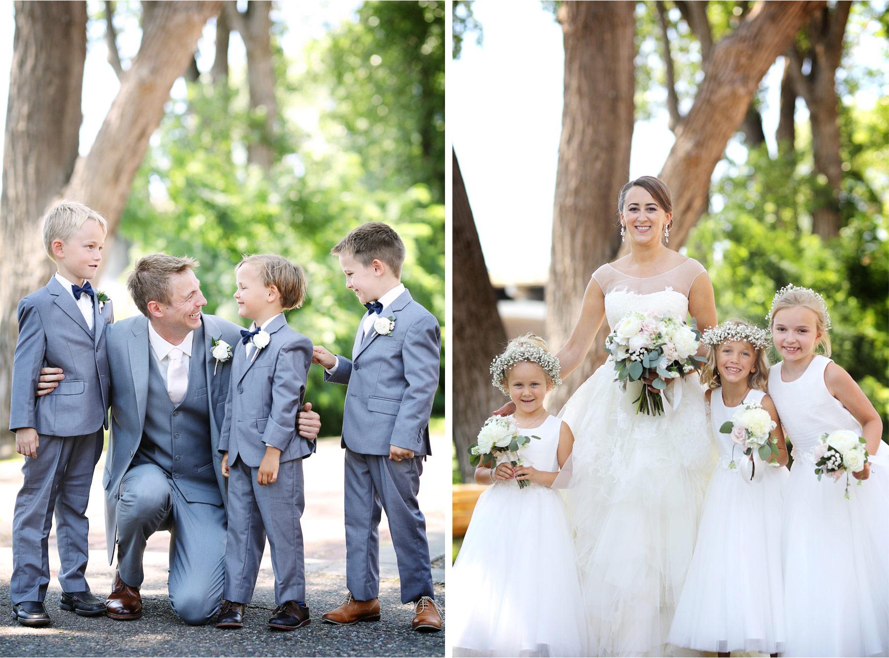 09-Minneapolis-Minnesota-Wedding-Photography-by-Vick-Photography-Saint-Anthony-Main-Flower-Girls-Tux-Brigid-and-Ernie.jpg