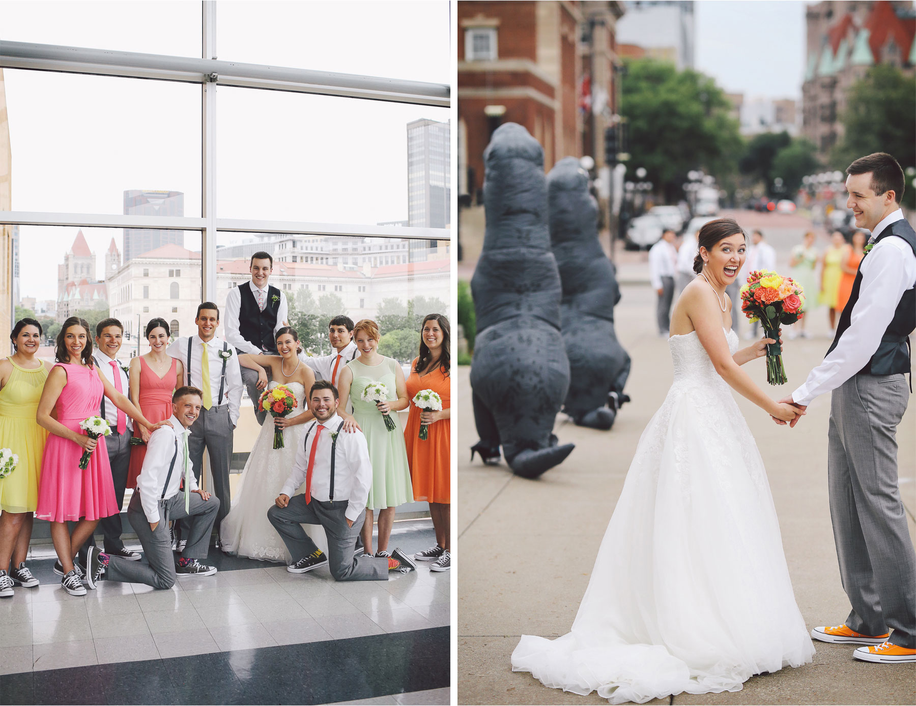 07-St-Paul-Minnesota-Wedding-Photography-by-Vick-Photography-Science-Museum-Dinosaur-Wedding-Group-Wedding-Party-Stephanie-and-Scott.jpg