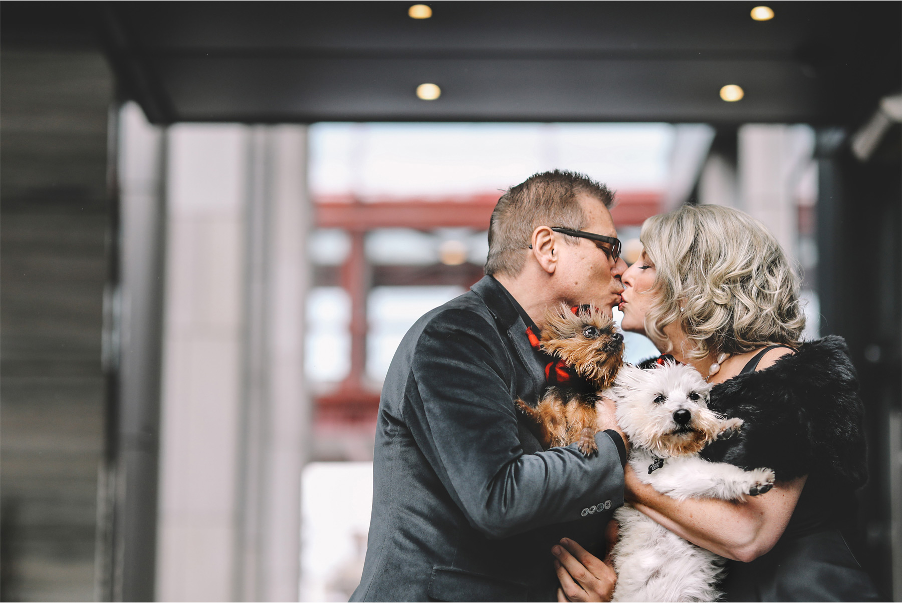 05-Minneapolis-Minnesota-Wedding-Photography-by-Vick-Photography-Downtown-Loews-Hotel-Bride-and-Groom-with-Dogs-Joan-and-Tim.jpg
