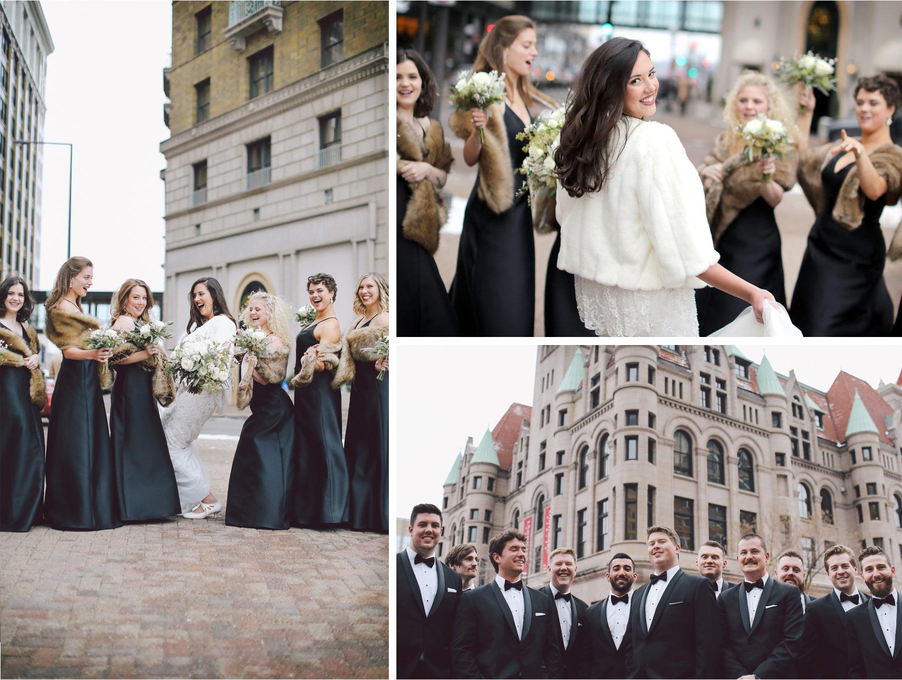 08-Saint-Paul-Minnesota-Wedding-Photography-by-Vick-Photography-Saint-Paul-Hotel-Wedding-Party-Group-Downtown-Winter-Wedding-Sami-and-Nick.jpg