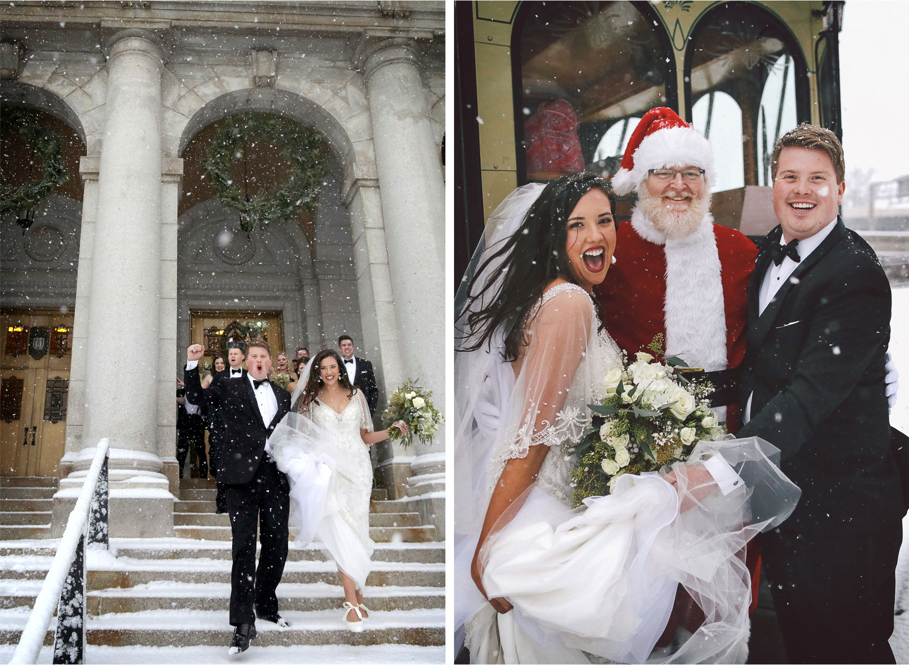 15-Saint-Paul-Minnesota-Wedding-Photography-by-Vick-Photography-Wedding-Party-Group-Trolley-Snow-Storm-Santa-Winter-Wedding-Sami-and-Nick.jpg
