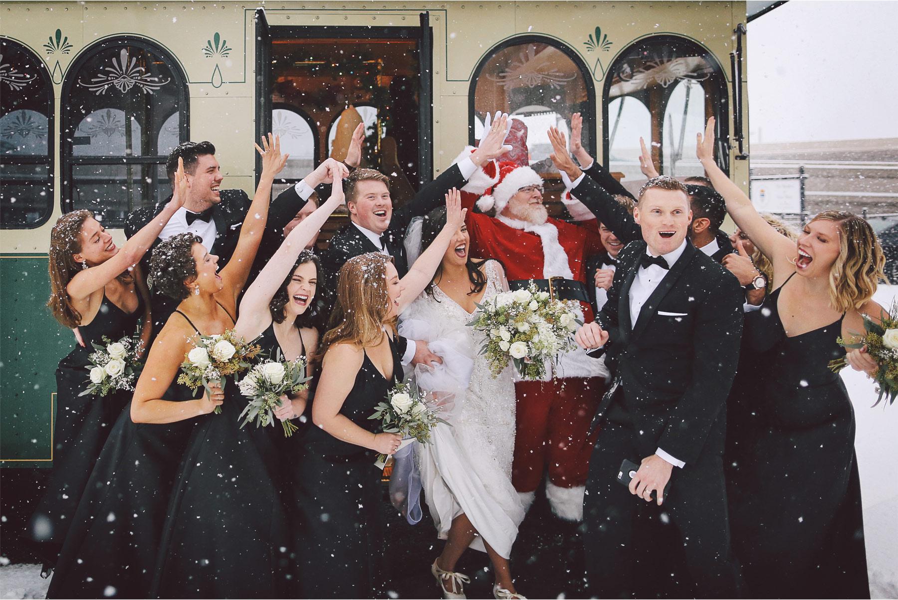 17-Saint-Paul-Minnesota-Wedding-Photography-by-Vick-Photography-Wedding-Party-Group-Trolley-Snow-Storm-Santa-Winter-Wedding-Sami-and-Nick.jpg