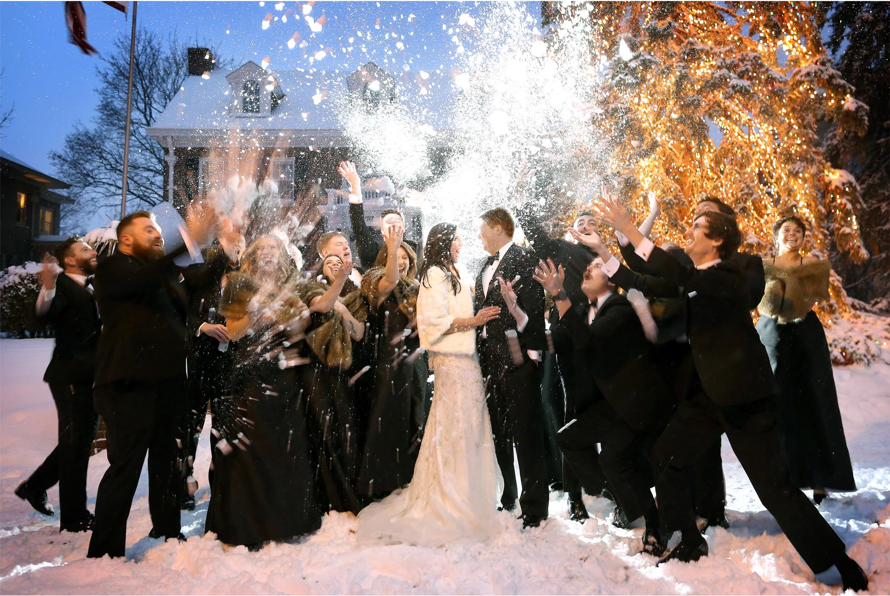 20-Saint-Paul-Minnesota-Wedding-Photography-by-Vick-Photography-Wedding-Party-Group-Snow-Ball-Fight-Winter-Wedding-Sami-and-Nick.jpg