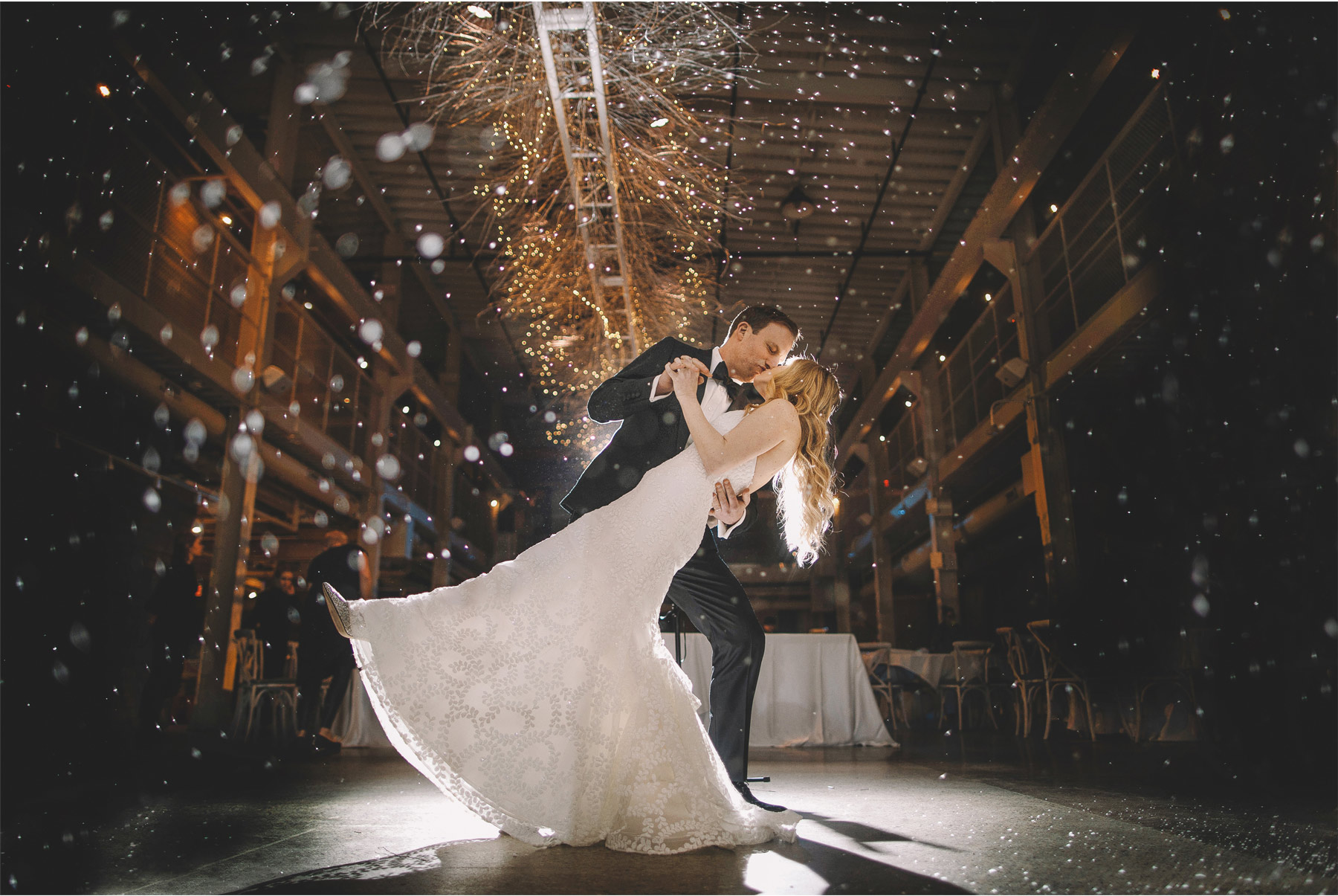 14-Minneapolis-Minnesota-Wedding-Photographer-by-Vick-Photography--Indoor-Snow-Bride-and-Groom-Winter-Wedding-Machine-Shop-Alyssa-and-Garron.jpg
