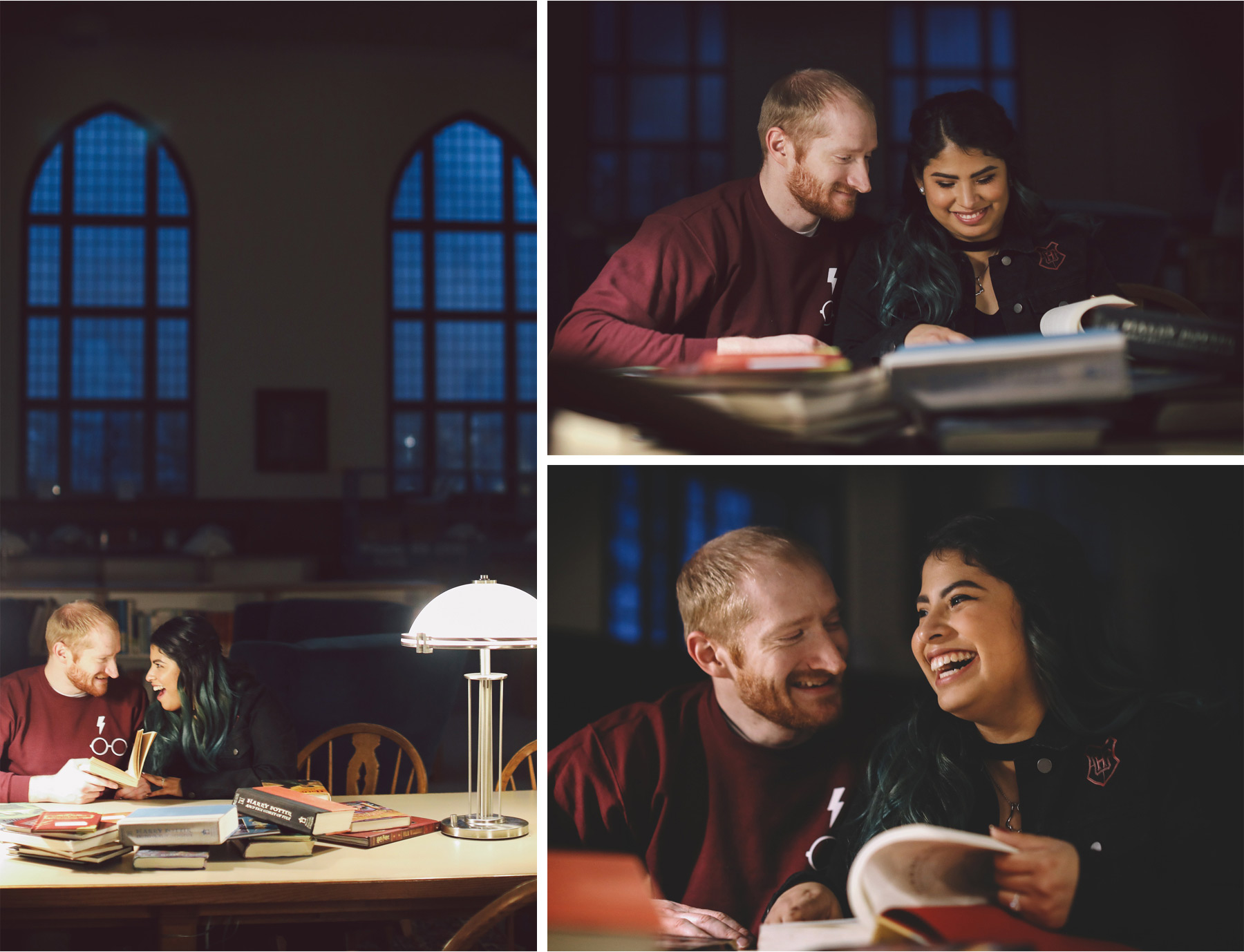 07-Harry-Potter-Themed-Engagement-Session-Minnesota-Wedding-Photography-Andrew-Vick-Books-Library-Elena-and-Doug.jpg
