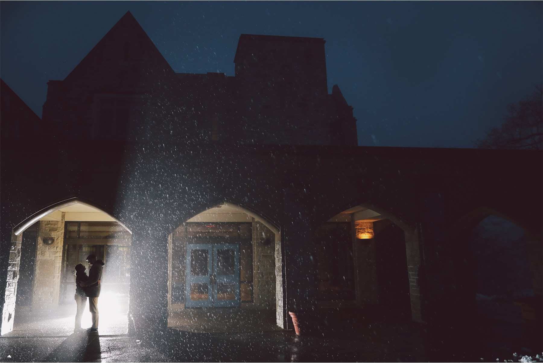 10-Harry-Potter-Themed-Engagement-Session-Minnesota-Wedding-Photography-Andrew-Vick-Night-Rain-Elena-and-Doug.jpg