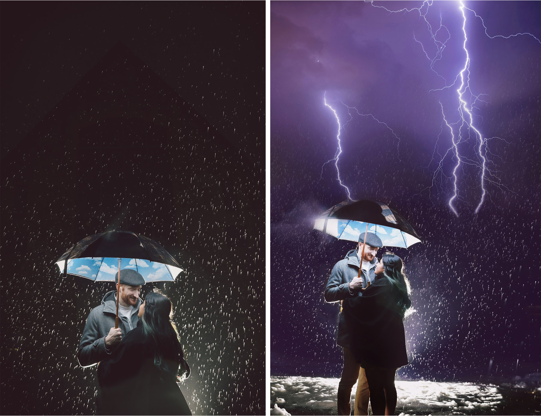 12-Harry-Potter-Themed-Engagement-Session-Minnesota-Wedding-Photography-Andrew-Vick-Night-Rain-Storm-Lightning-Elena-and-Doug.jpg