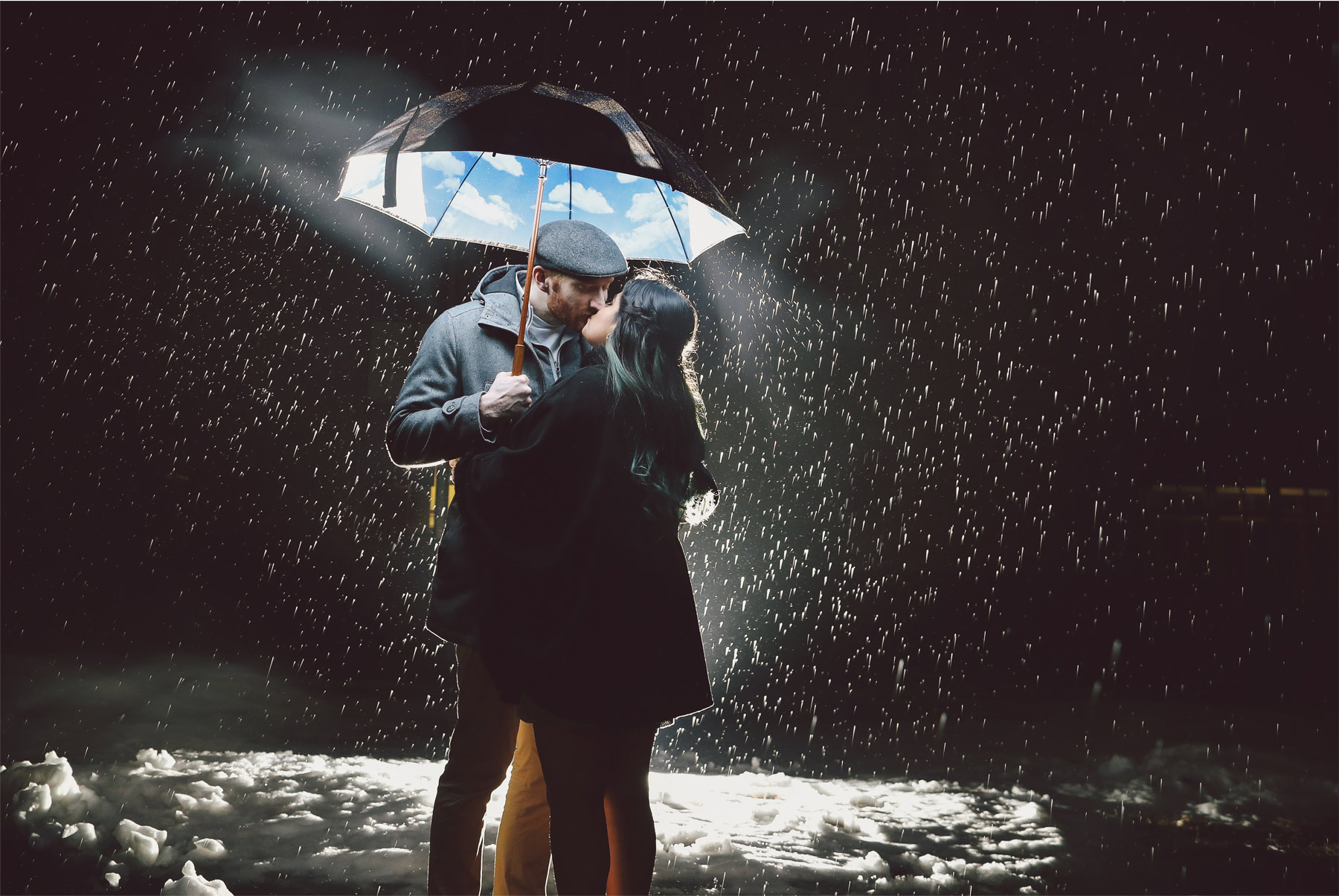 13-Harry-Potter-Themed-Engagement-Session-Minnesota-Wedding-Photography-Andrew-Vick-Night-Rain-Umbrella-Elena-and-Doug.jpg