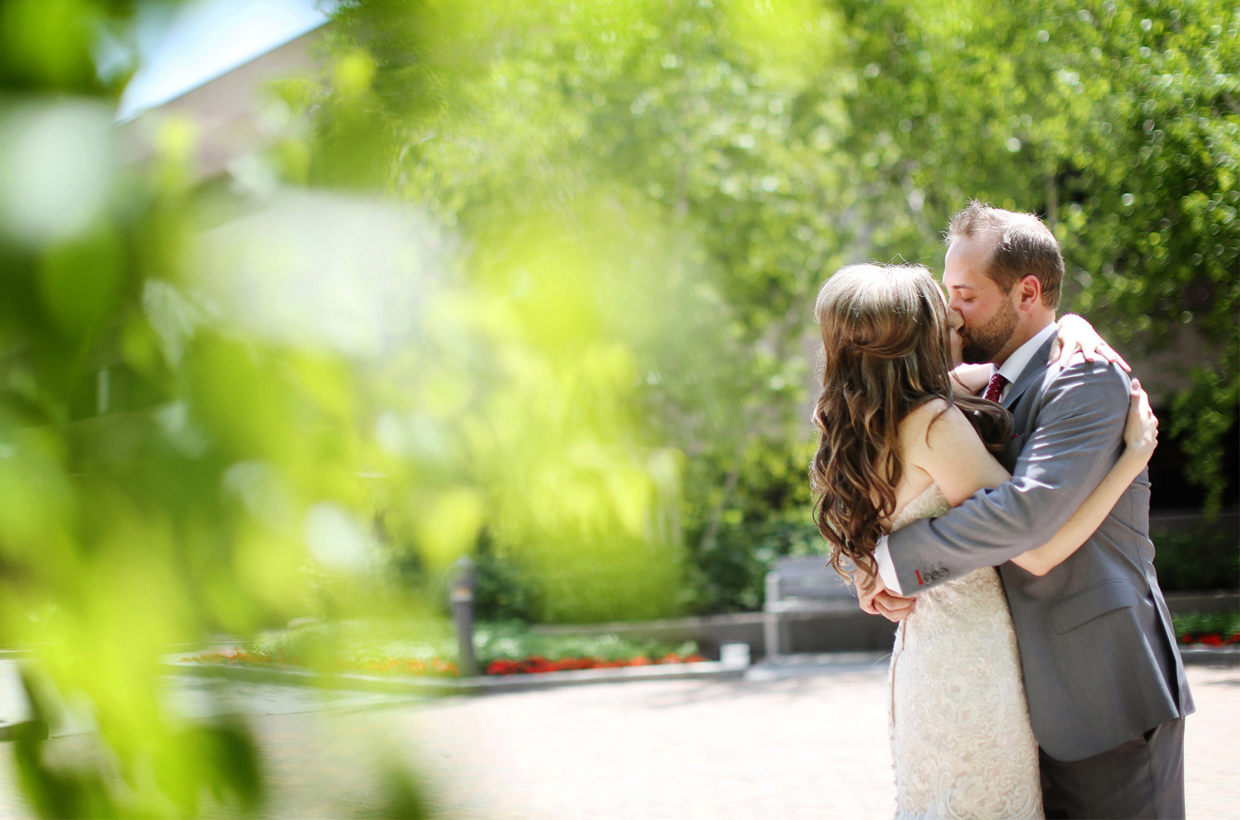 05-Minneapolis-Minnesota-Wedding-Photographer-by-Andrew-Vick-Photography-Summer-Edina-Westin-Hotel-First-Meeting-Look-Kiss-Embrace-Bride-Groom-Natalie-and-Andrew.jpg
