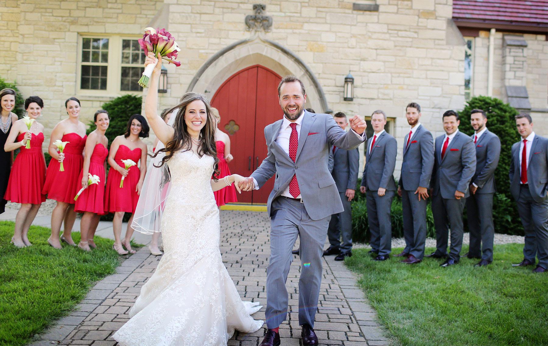 15-Minneapolis-Minnesota-Wedding-Photographer-by-Andrew-Vick-Photography-Summer-Diamond-Lake-Church-Celebration-Excited-Bridesmaids-Groomsmen-Bride-Groom-Natalie-and-Andrew.jpg