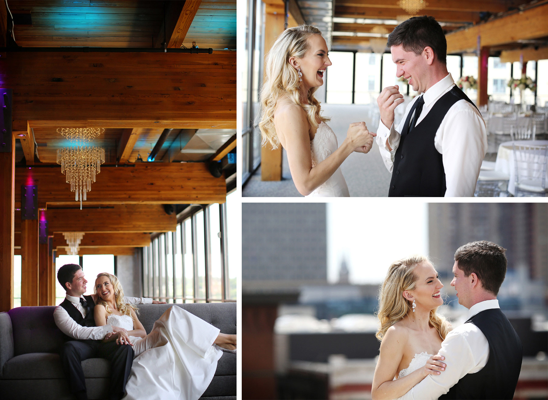 06-Saint-Paul-Minnesota-Wedding-Photographer-by-Andrew-Vick-Photography-Summer-Abulae-Bride-Groom-First-Meeting-Laughing-Embrace-Laura-and-Tim.jpg