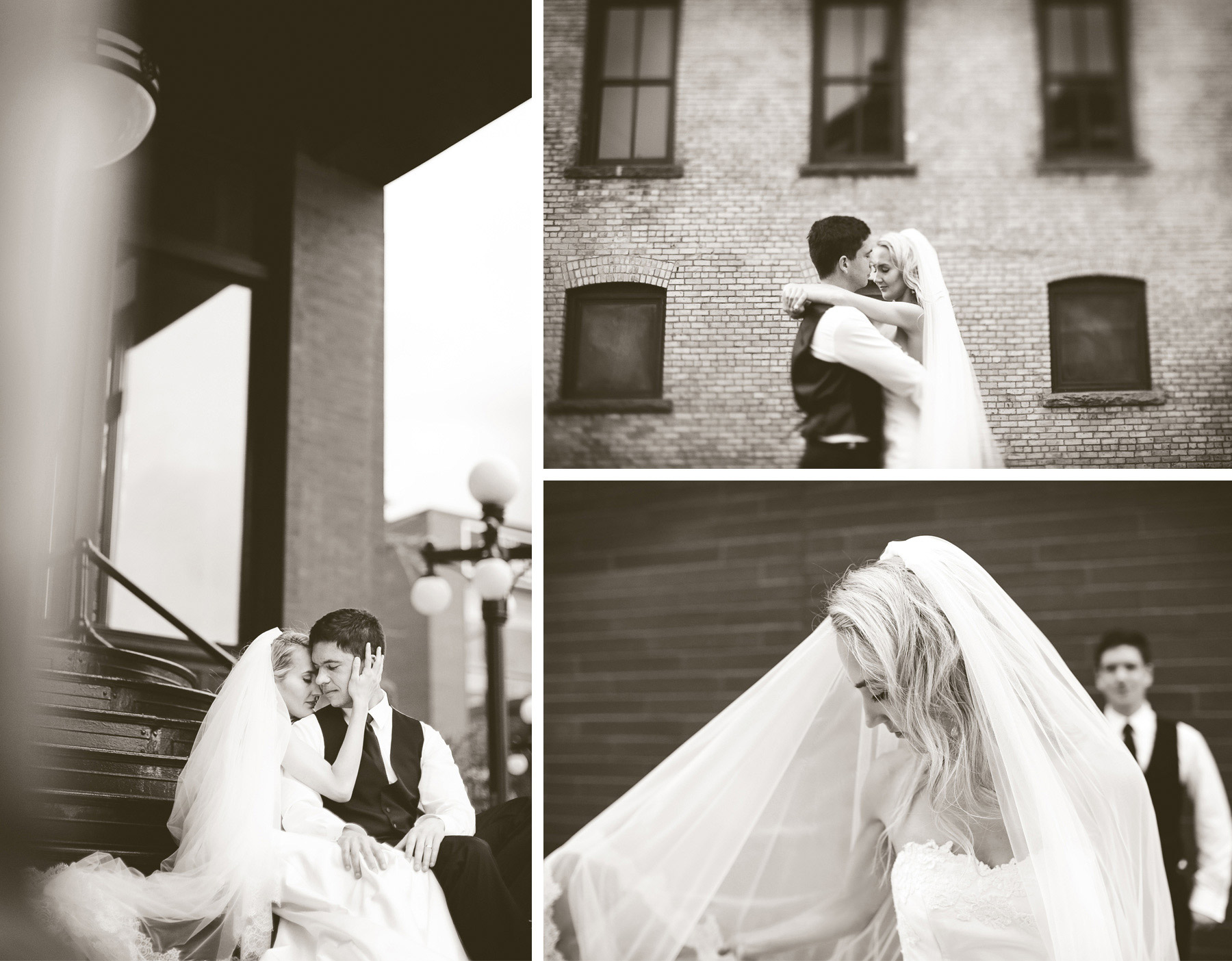 20-Saint-Paul-Minnesota-Wedding-Photographer-by-Andrew-Vick-Photography-Summer-Bride-Groom-Embrace-Romance-Veil-Sepia-Laura-and-Tim.jpg