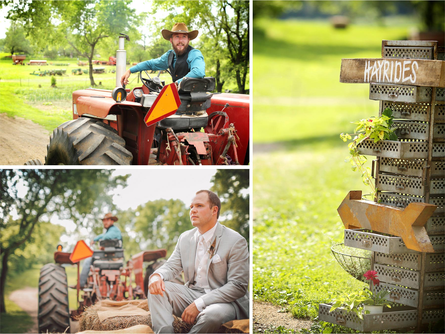 11-South-Haven-Minnesota-Wedding-Photographer-by-Andrew-Vick-Photography-Summer-Tomala-Farm-Sign-Field-Tractor-Groom-Farmer-Vintage-Sign-Details-Decorations-Renee-and-Bobb.jpg