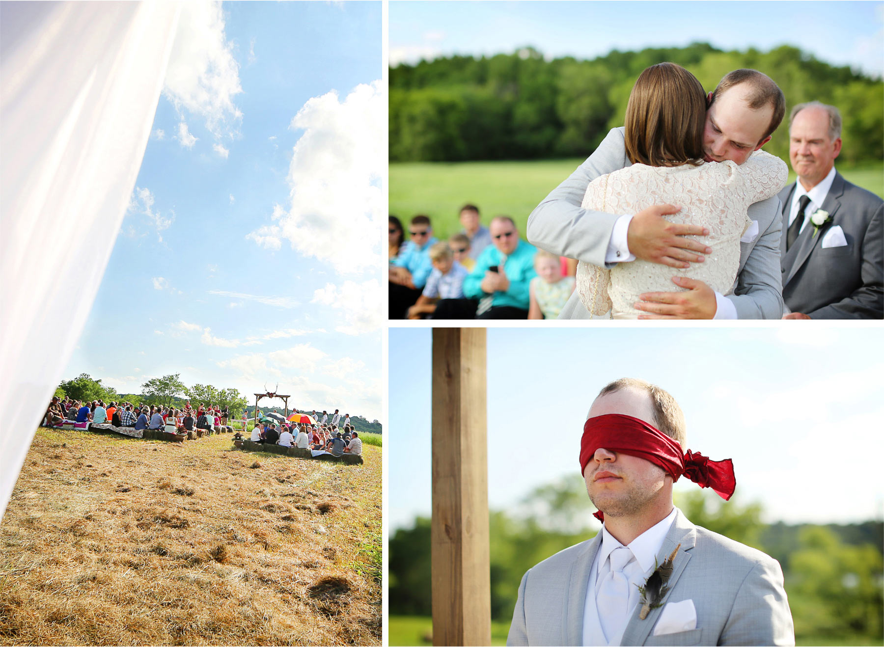 14-South-Haven-Minnesota-Wedding-Photographer-by-Andrew-Vick-Photography-Summer-Tomala-Farm-Ceremony-Groom-Parents-Blidefold-Renee-and-Bobb.jpg