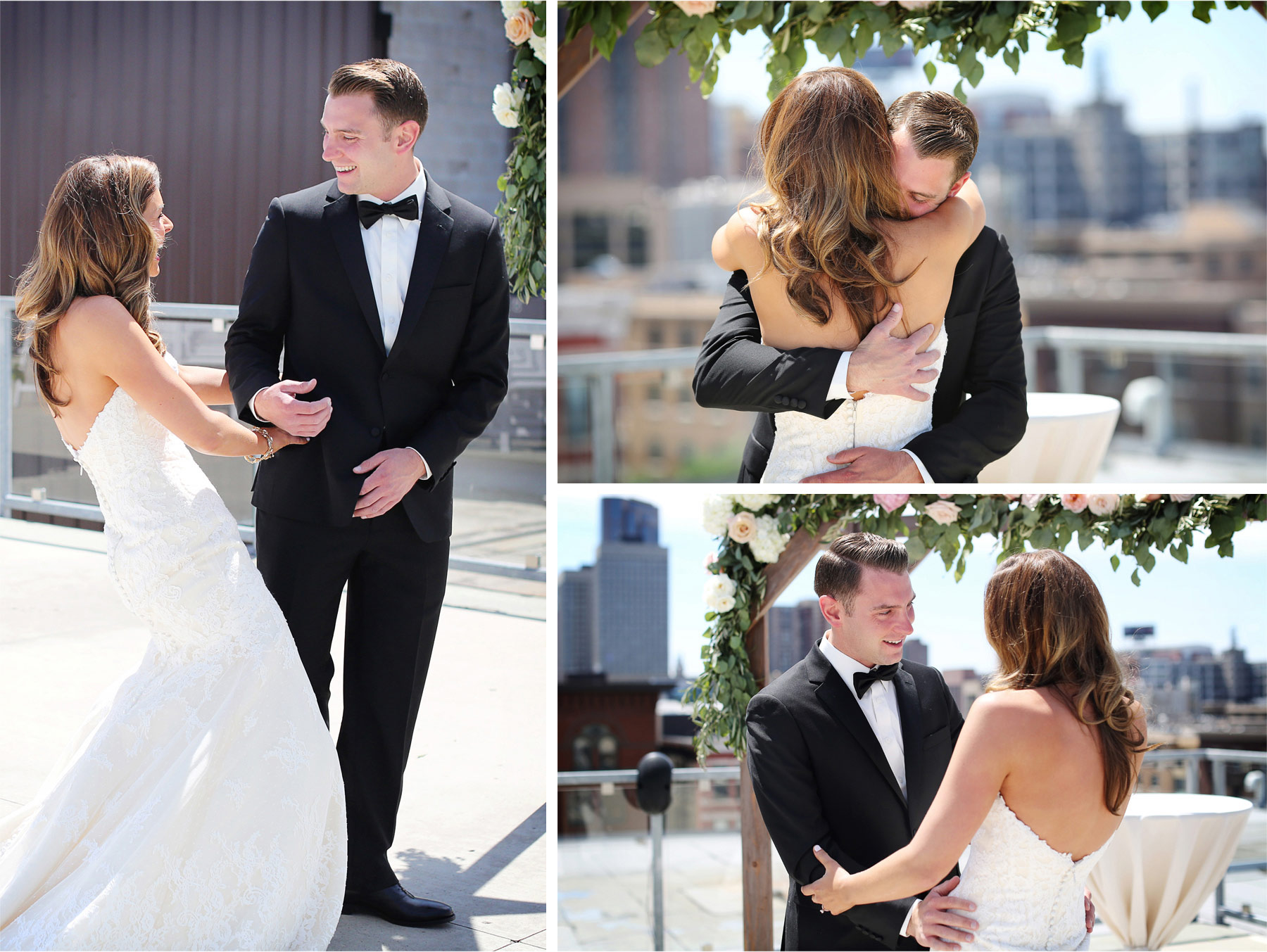 07-Saint-Paul-Minnesota-Wedding-Photographer-by-Andrew-Vick-Photography-Summer-Abulae-First-Meeting-Bride-Groom-Excited-Hug-Embrace-Molly-and-Dan.jpg