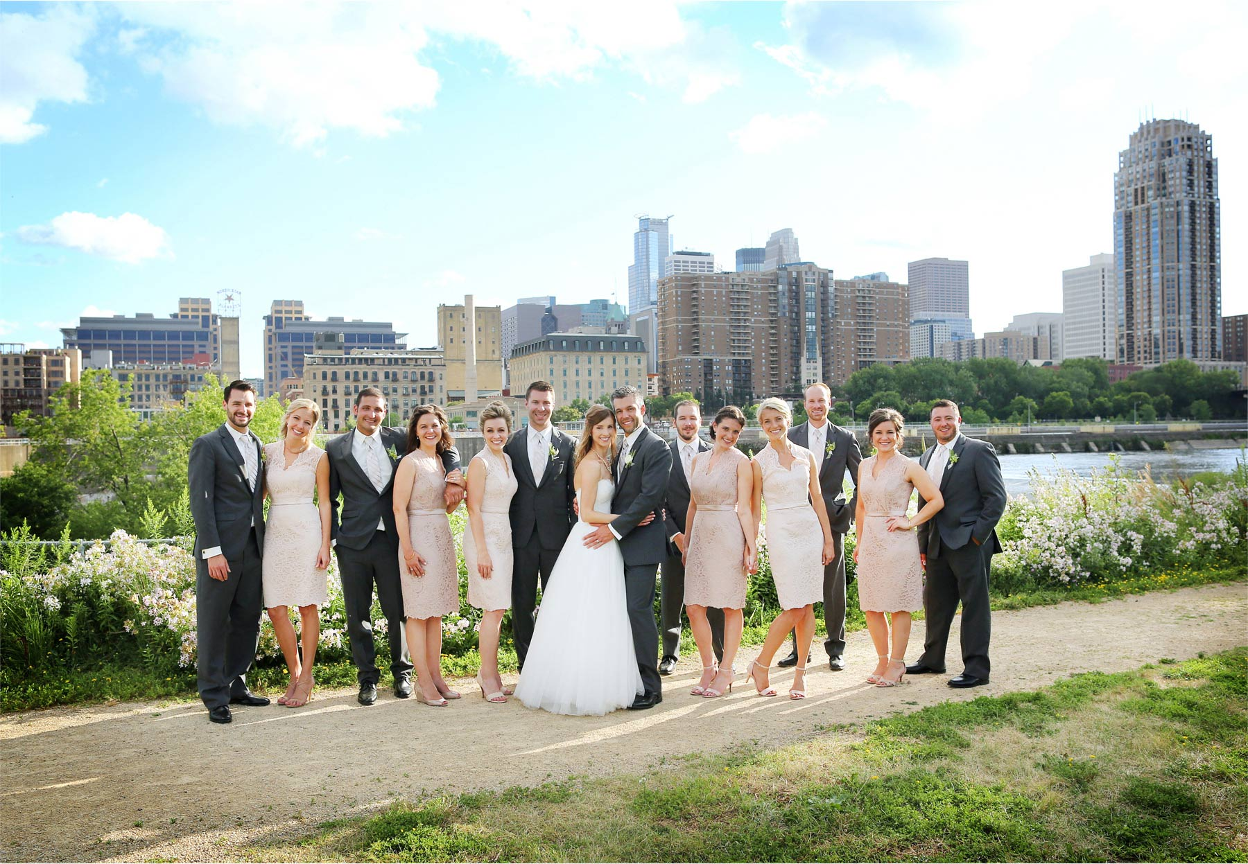 15-Minneapolis-Minnesota-Wedding-Photographer-by-Andrew-Vick-Photography-Summer-Bride-Groom-Bridesmaids-Groomsmen-Bridal-Party-Downtown-Mississippi-River-Katie-and-Travis.jpg