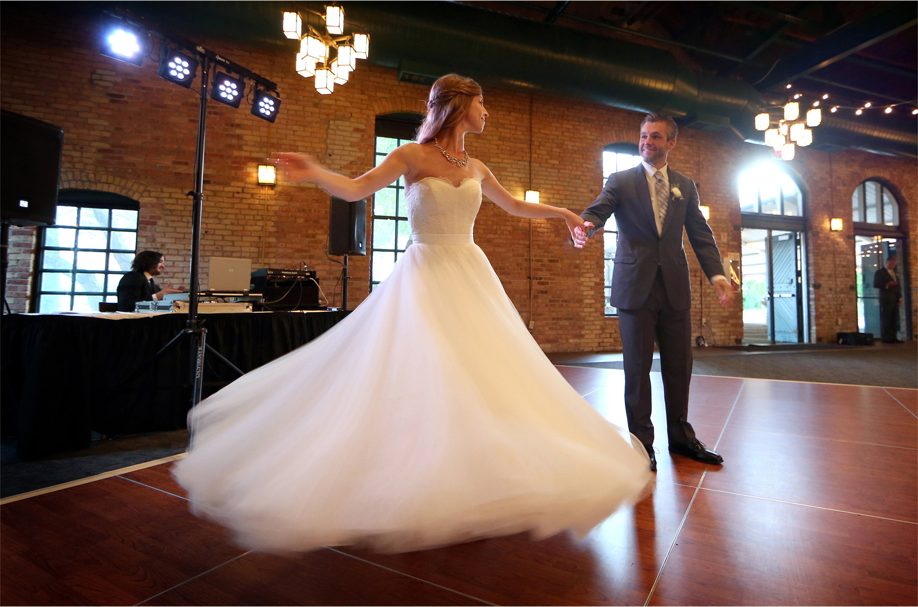 19-Minneapolis-Minnesota-Wedding-Photographer-by-Andrew-Vick-Photography-Summer-Bride-Groom-Nicollett-Island-Pavilion-Dress-Dance-Twirl-Katie-and-Travis.jpg