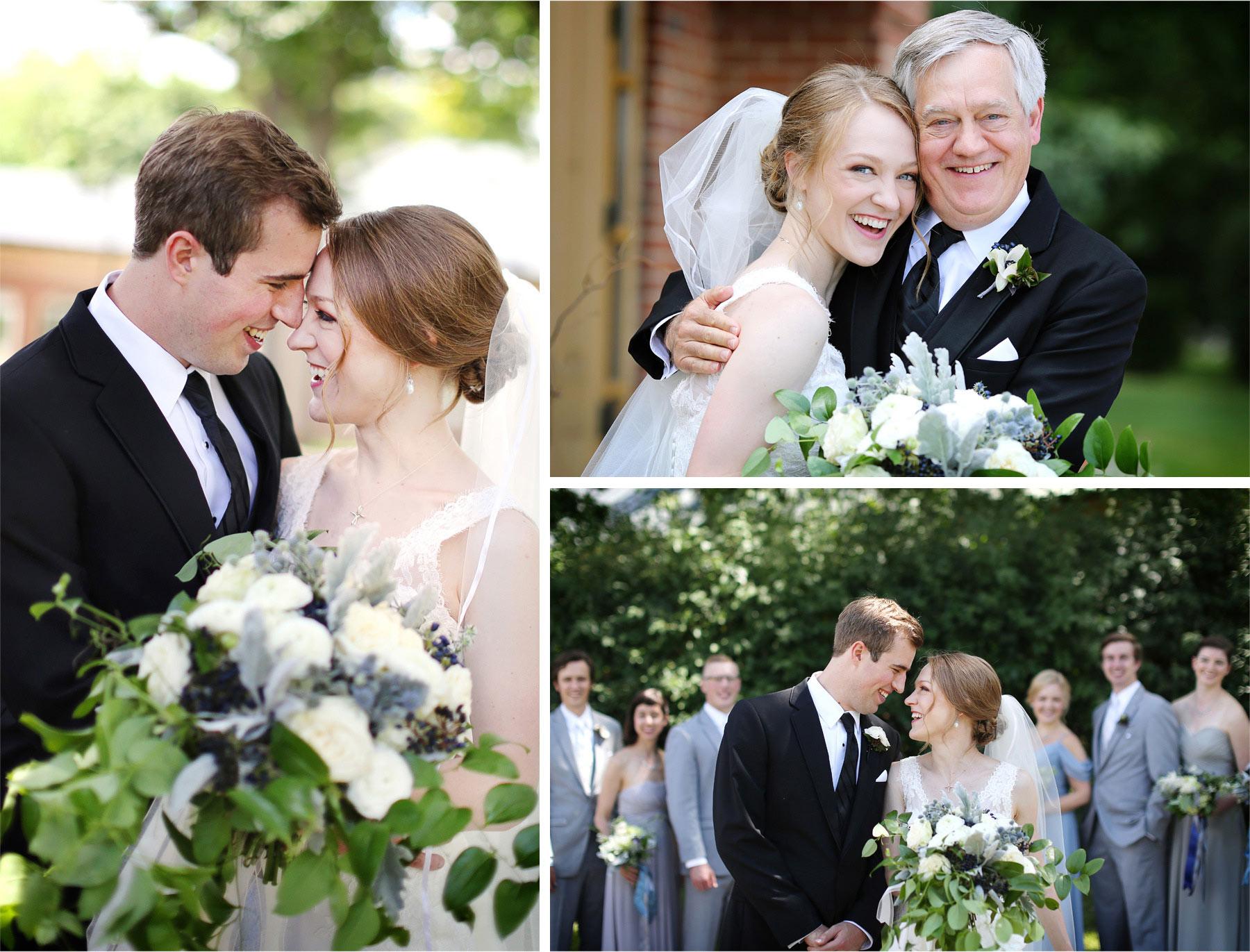 09-Edina-Minnesota-Wedding-Photographer-by-Andrew-Vick-Photography-Summer-Our-Lady-of-Grace-Catholic-Parish-Church-Bride-Groom-Embrace-Father-Parents-Bridal-Party-Groomsmen-Bridesmaids-Betsy-and-Jon.jpg