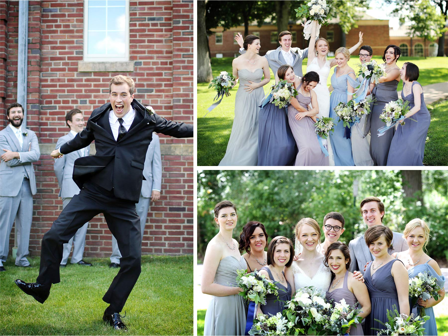 12-Edina-Minnesota-Wedding-Photographer-by-Andrew-Vick-Photography-Summer-Our-Lady-of-Grace-Catholic-Parish-Church-Bride-Groom-Laughter-Jumping-Bridal-Party-Groomsmen-Bridesmaids-Betsy-and-Jon.jpg