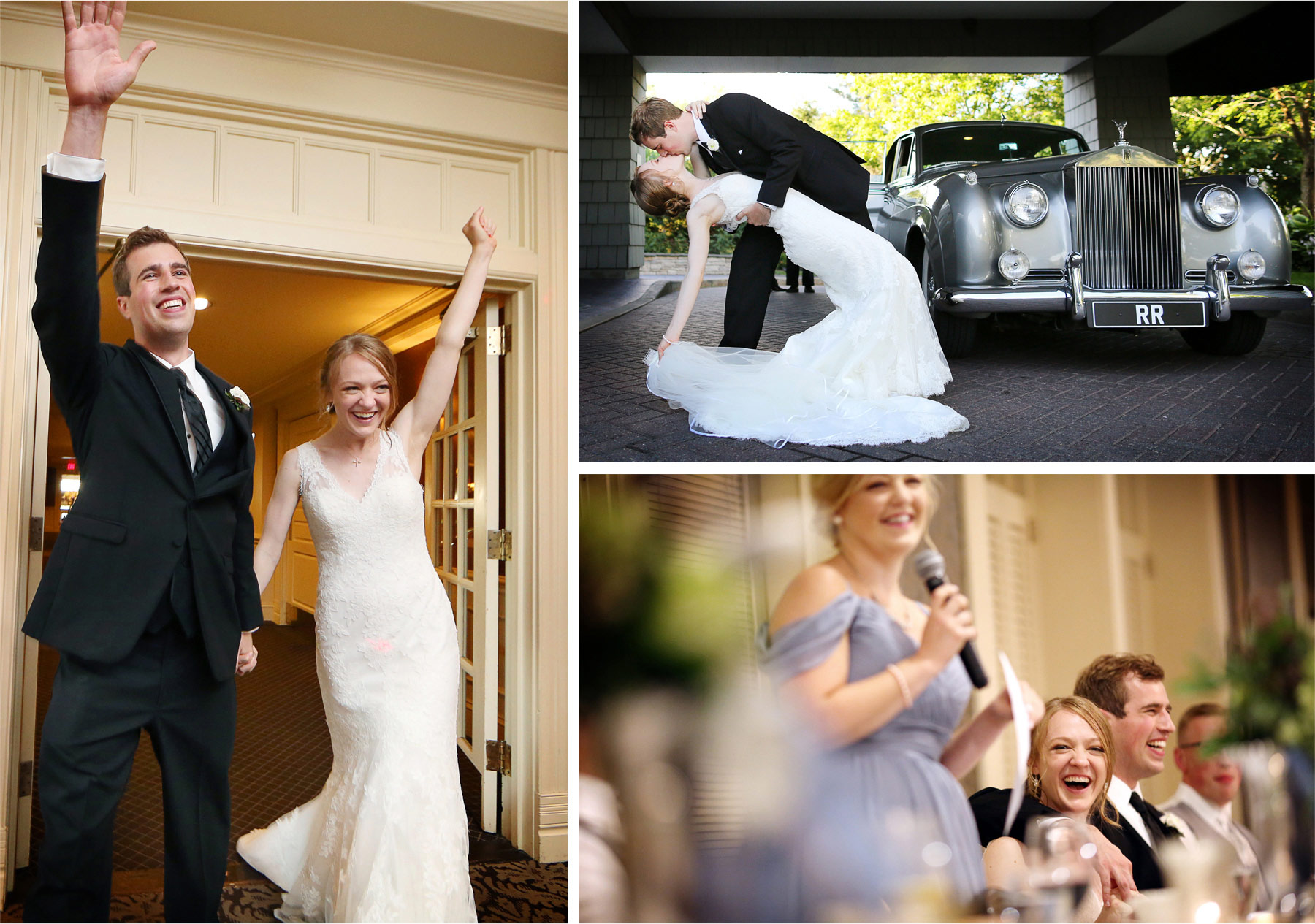 25-Edina-Minnesota-Wedding-Photographer-by-Andrew-Vick-Photography-Summer-Country-Club-Bride-Groom-Kiss-Rolls-Royce-Classic-Vintage-Car-Reception-Entrance-Speeches-Toasts-Laugther-Betsy-and-Jon.jpg