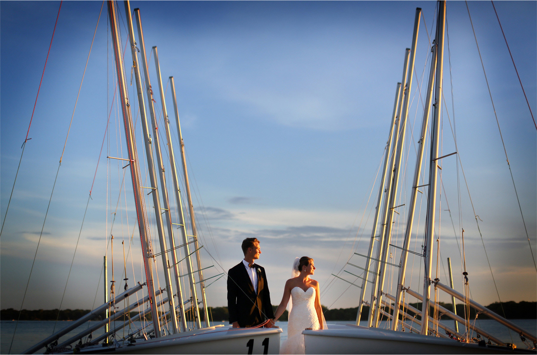 14-White-Bear-Lake-Minnesota-Wedding-Photographer-by-Andrew-Vick-Photography-Summer-Yacht-Club-Bride-Groom-Docks-Sailboats-Boats-Sunset-Hallie-and-Ted.jpg