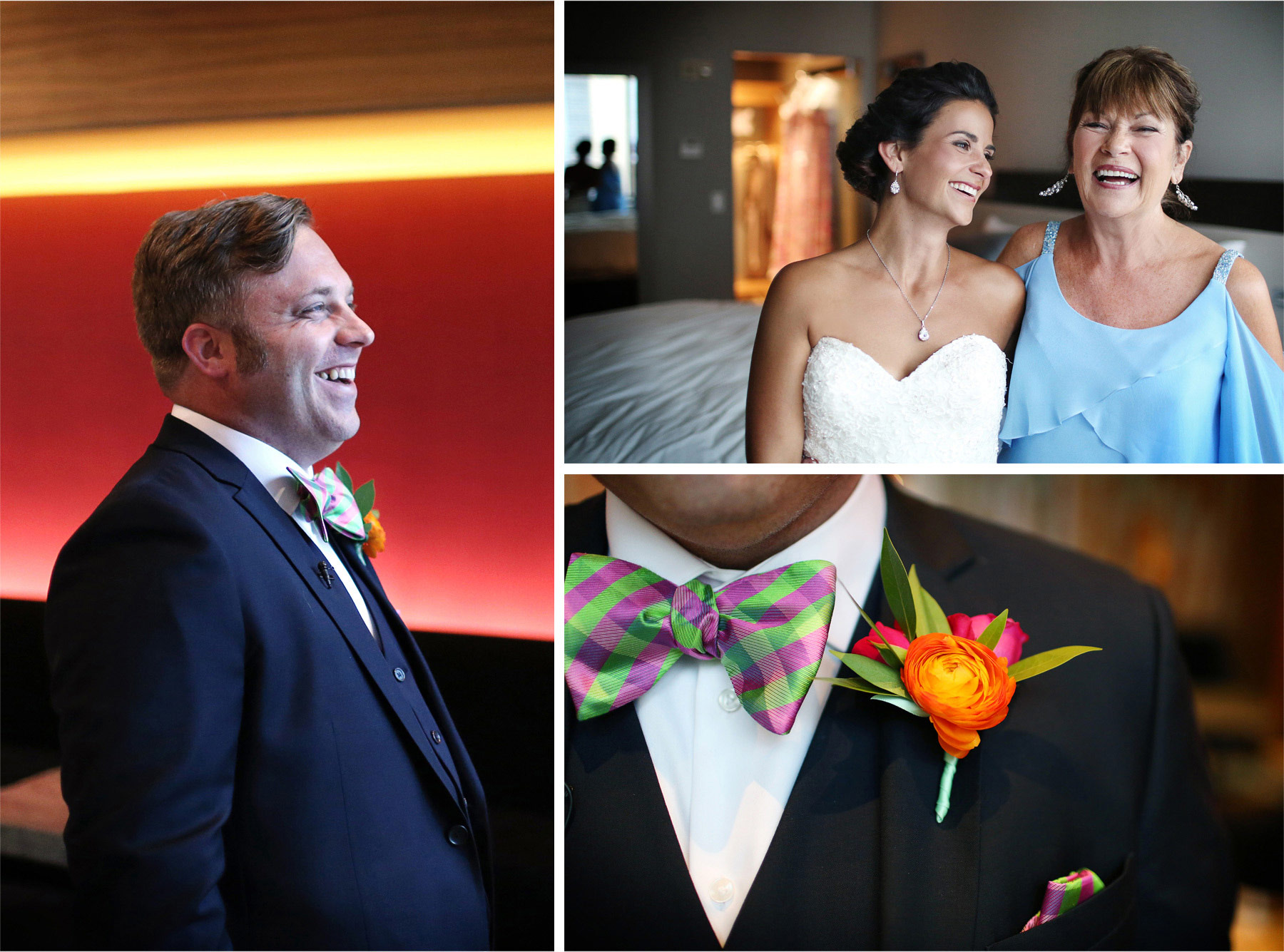 04-Minneapolis-Minnesota-Wedding-Photographer-by-Andrew-Vick-Photography-Summer-Loews-Hotel-Bride-Mother-Parents-Groom-Bowtie-Flowers-Lindsay-and-Dustin.jpg